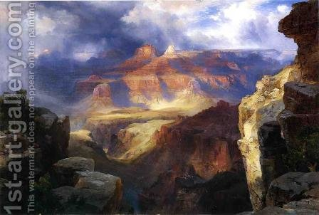 A Miracle Of Nature by Thomas Moran - Reproduction Oil Painting