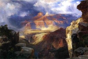 Reproduction oil paintings - Thomas Moran - A Miracle Of Nature