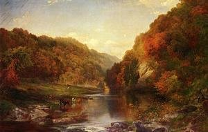 Reproduction oil paintings - Thomas Moran - Autumn On The Wissahickon