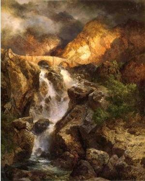 Reproduction oil paintings - Thomas Moran - Cascading Water
