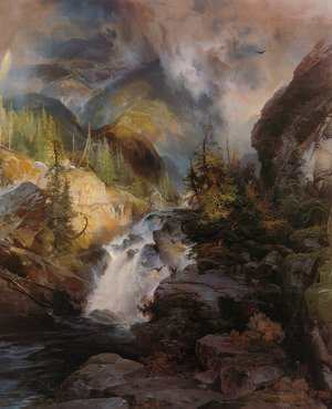 Reproduction oil paintings - Thomas Moran - Children Of The Mountain