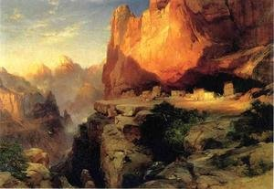 Reproduction oil paintings - Thomas Moran - Cliff Dwellers
