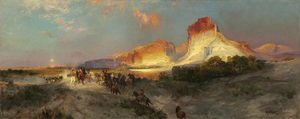 Reproduction oil paintings - Thomas Moran - Green River Cliffs  Wyoming
