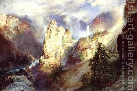 Landscape by Thomas Moran - Reproduction Oil Painting