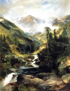 Reproduction oil paintings - Thomas Moran - Mountain Of The Holy Cross
