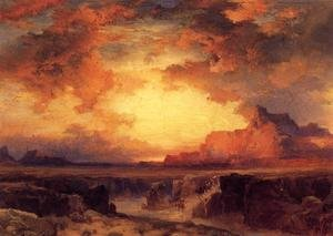 Reproduction oil paintings - Thomas Moran - Near Fort Wingate  New Mexico