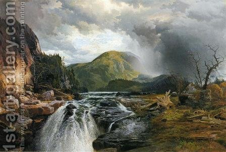 Thomas Moran: The Wilds Of Lake Superior - reproduction oil painting