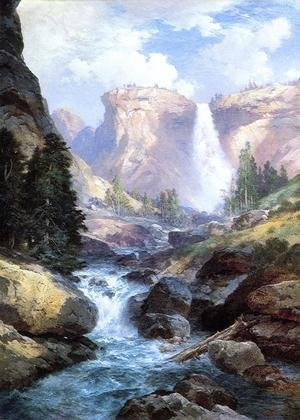 Famous Paintings Of Waterfalls Waterfall In Yosemite
