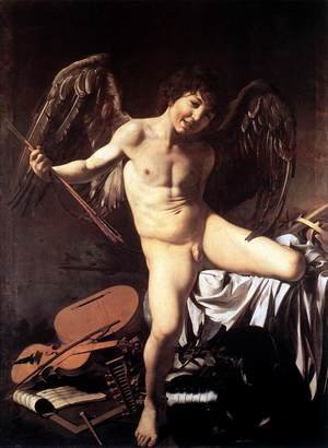 Reproduction oil paintings - Caravaggio - Amor Victorious 1602-03