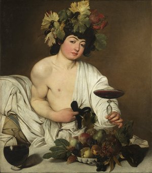 Reproduction oil paintings - Caravaggio - Bacchus c. 1596