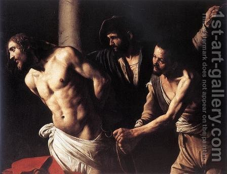 Christ at the Column c. 1607 by Caravaggio - Reproduction Oil Painting