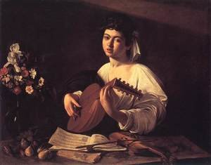 Reproduction oil paintings - Caravaggio - Lute Player c. 1596