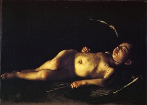 Reproduction oil paintings - Caravaggio - Sleeping Cupid 1608