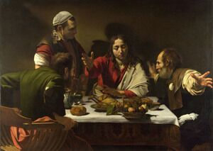 Famous paintings of Religion & Philosophy: Supper at Emmaus 1601-02
