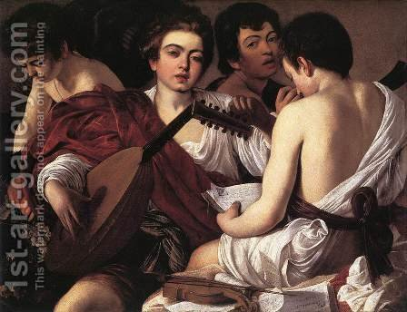 Caravaggio: The Musicians 1595-96 - reproduction oil painting