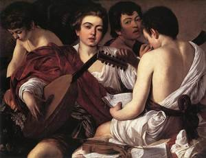 Reproduction oil paintings - Caravaggio - The Musicians 1595-96