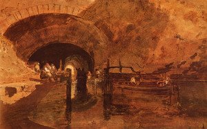 Reproduction oil paintings - Turner - A Canal Tunnel Near Leeds