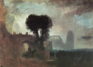 Reproduction oil paintings - Turner - Archway With Trees By The Sea