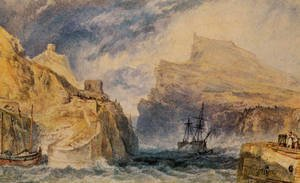 Reproduction oil paintings - Turner - Boscastle  Cornwall