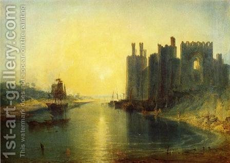 Turner: Caernarvon Castle - reproduction oil painting