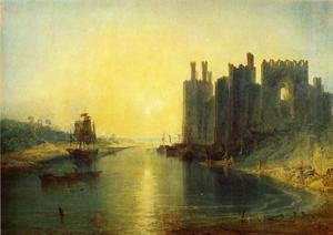 Reproduction oil paintings - Turner - Caernarvon Castle