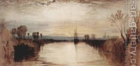 Turner: Chichester Canal - reproduction oil painting