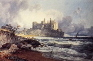 Romanticism painting reproductions: Conway Castle