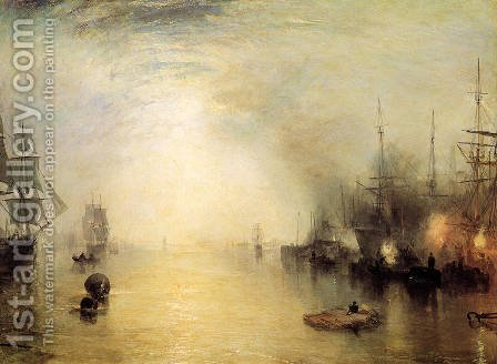 Turner: Keelman Heaving In Coals By Night - reproduction oil painting
