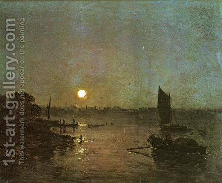 Turner: Moonlight  A Study At Millbank - reproduction oil painting