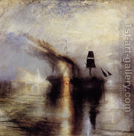Peace - Burial at Sea 1842 by Turner - Reproduction Oil Painting
