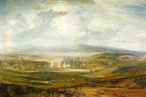 Romanticism painting reproductions: Raby Castle  The Seat Of The Earl Of Darlington