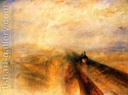 Rain, Steam and Speed The Great Western Railway  1844 by Turner - Reproduction Oil Painting