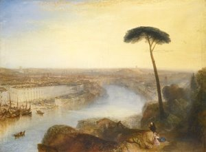 Romanticism painting reproductions: Rome From Mount Aventine