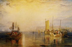Reproduction oil paintings - Turner - Sunrise  Whiting Fishing At Margate