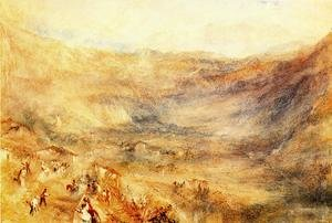 Reproduction oil paintings - Turner - The Brunig Pass  From Meringen
