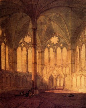 Reproduction oil paintings - Turner - The Chapter House  Salisbury Chathedral