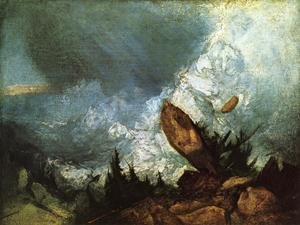 Reproduction oil paintings - Turner - The Fall of an Avalanche in the Grisons 1810
