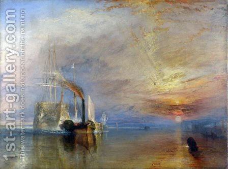 Turner: The 'Fighting Temeraire' tugged to her Last Berth to be broken up 1838-39 - reproduction oil painting