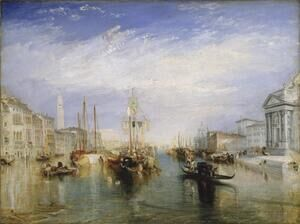Famous paintings of Ships & Boats: The Grand Canal, Venice 1835