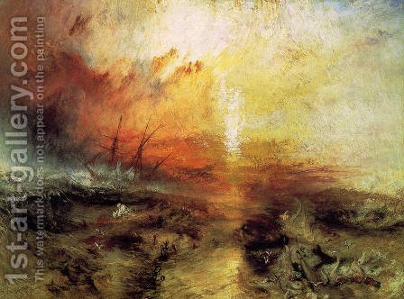 Turner: The Slave Ship 1840 - reproduction oil painting