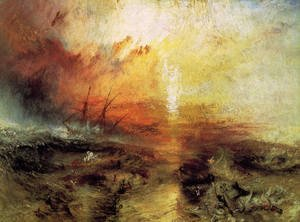 Famous paintings of Storms & Rough Water: The Slave Ship 1840