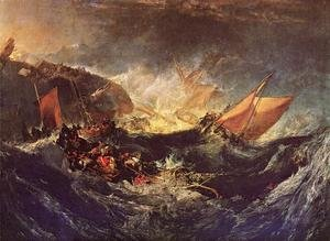 Reproduction oil paintings - Turner - The Wreck Of A Transport Ship