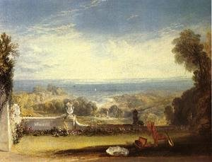 Reproduction oil paintings - Turner - View From The Terrace Of A Villa At Niton  Isle Of Wight  From Sketches By A Lady