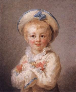 Reproduction oil paintings - Jean-Honore Fragonard - A Boy as Pierrot 1776-80