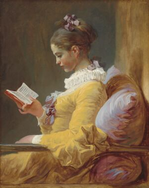 Rococo painting reproductions: A Young Girl Reading c. 1776