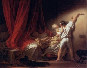 Reproduction oil paintings - Jean-Honore Fragonard - The Bolt (Le Verrou) c. 1778