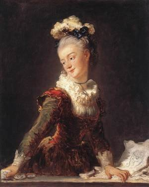 Reproduction oil paintings - Jean-Honore Fragonard - Marie-Madeleine Guimard (Fanciful Figure) 1769