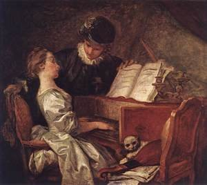 Reproduction oil paintings - Jean-Honore Fragonard - Music Lesson 1769