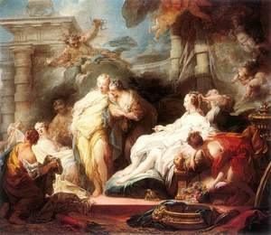 Reproduction oil paintings - Jean-Honore Fragonard - Psyche showing her Sisters her Gifts from Cupid 1753