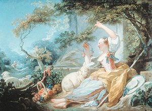 Reproduction oil paintings - Jean-Honore Fragonard - Shepherdess